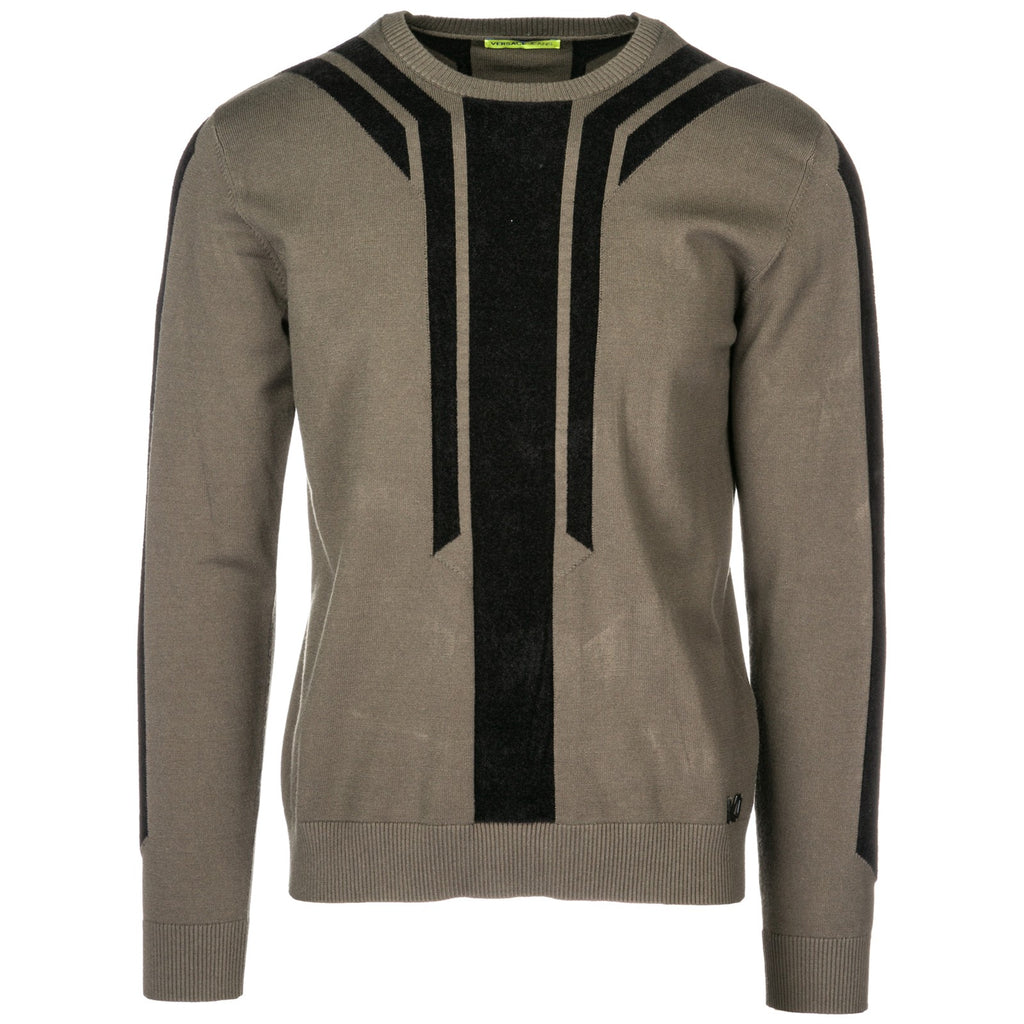 a1f2439a606b Versace Jeans Two Tone Pattern Pullover – Cettire