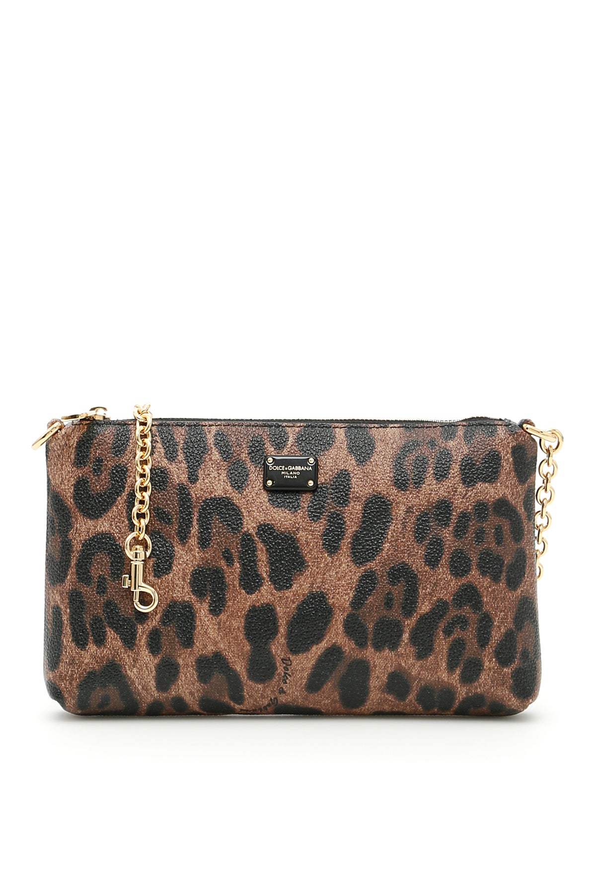 DOLCE & GABBANA LEO PRINT MINI CLUTCH BAG