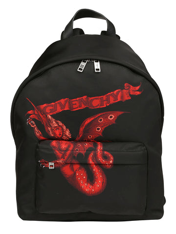 Givenchy Winged Beast Zipped Backpack