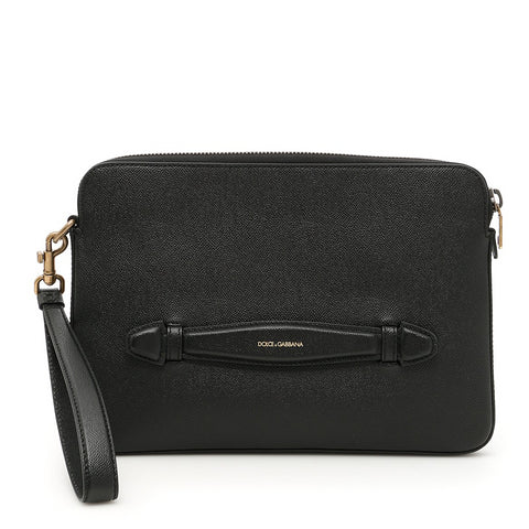 Dolce & Gabbana Hand Strap Leather Laptop Case