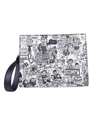 Dolce & Gabbana Printed Zipped Pouch