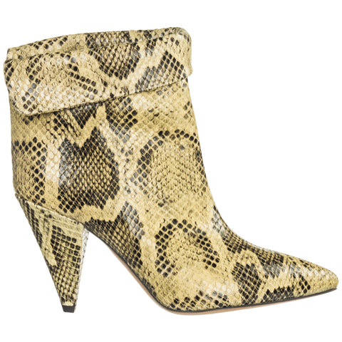 Isabel Marant Lisbo Python Effect Ankle Boots