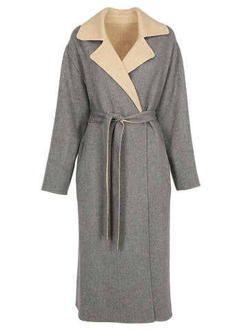 Givenchy Reversible Belted Panelled Coat