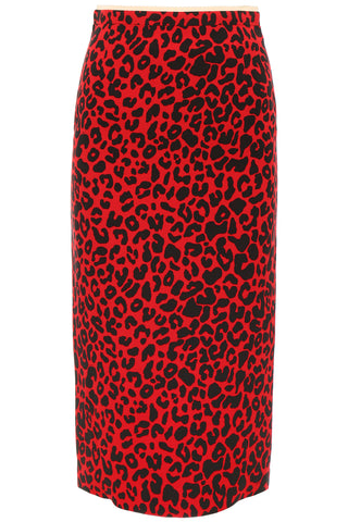 N°21 Leopard Print Pencil Skirt