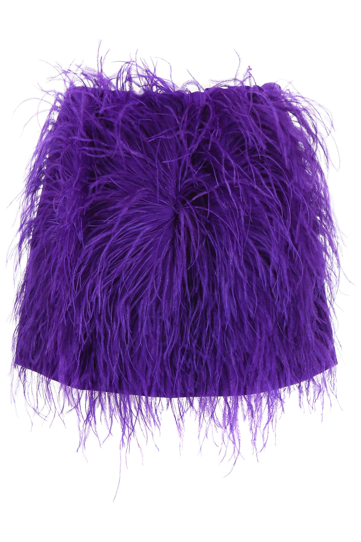 Mini Skirt With Feathers in Viola