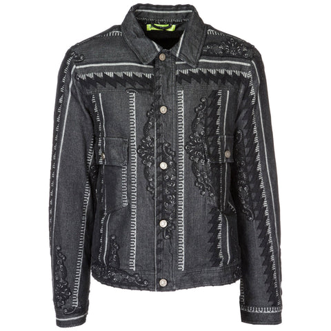 Versace Jeans Double Breast Pocket Patterned Jacket