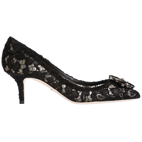 Dolce & Gabbana Bellucci Embellished Lace Pumps