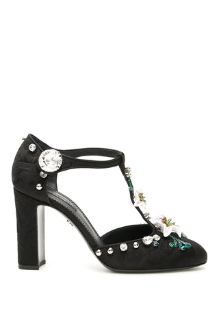 Dolce & Gabbana Embellished T-Bar Pumps