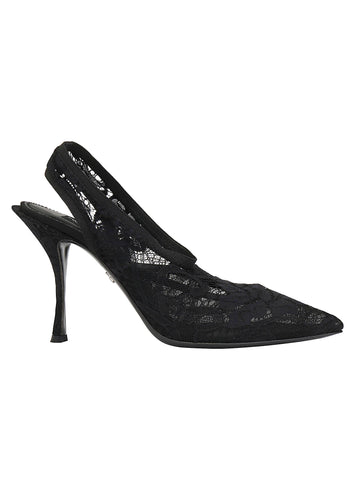Dolce & Gabbana Laced Slingback Pumps