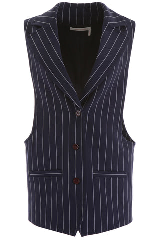 See By Chloé Pinstripe Waistcoat