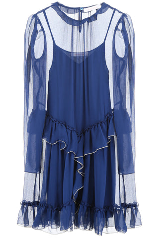 See By Chloè Georgette Ruffled Dress