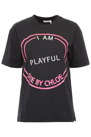 See By Chloé Slogan Printed T-Shirt