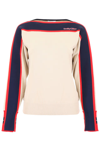 See By Chloé Logo Stripe Sweater