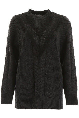 See By Chloé Lace Insert Sweater