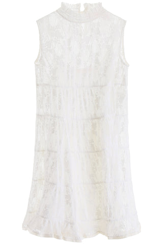 See By Chloé Flared Lace Tiered Dress