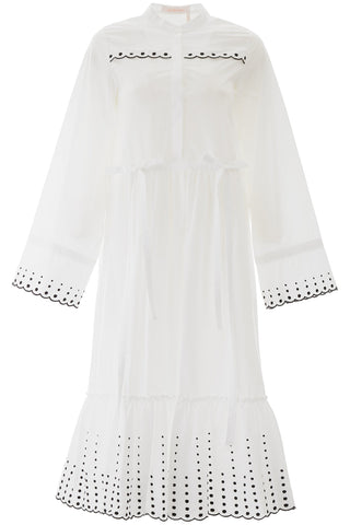 See By Chloé Embroidered Belted Dress