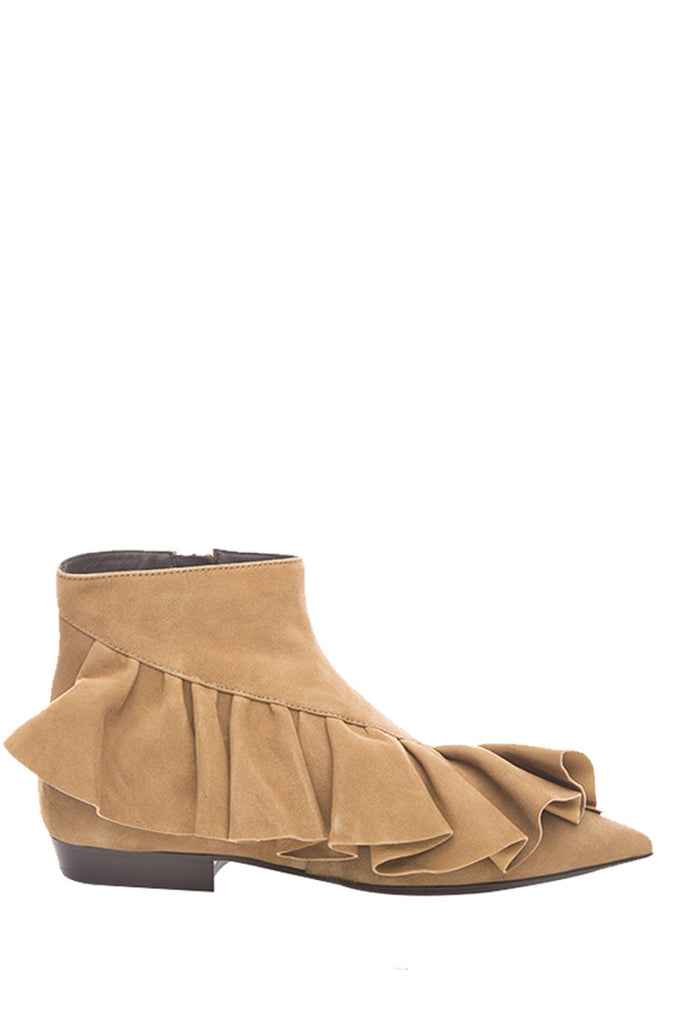 e306445841 JW Anderson Ruffled Ankle Boots – Cettire