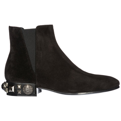 Dolce & Gabbana Napoli Beatle Studded Ankle Boots