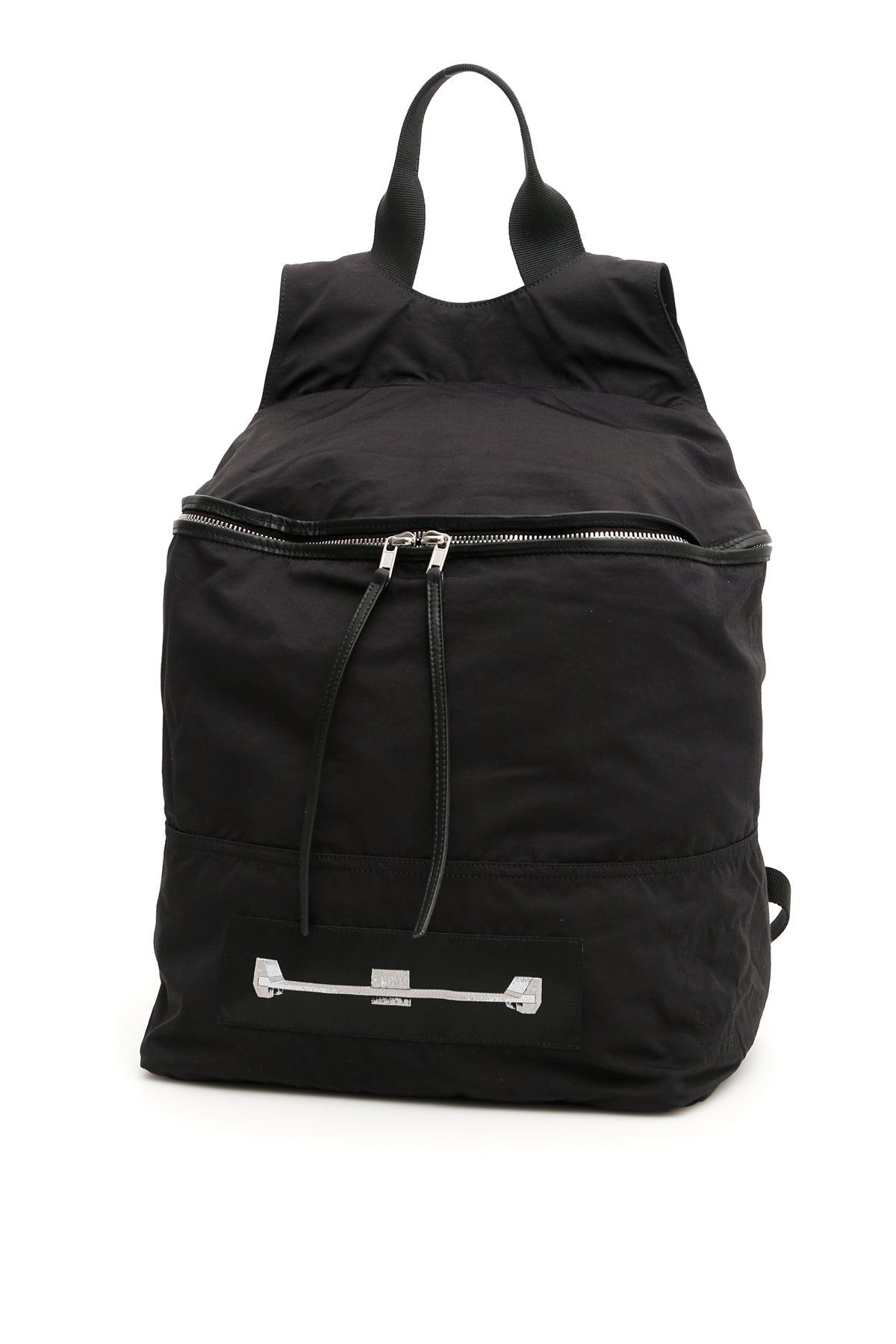Rick Owens Drkshdw Backpacks RICK OWENS DRKSHDW FRONT PATCH ZIPPED BACKPACK