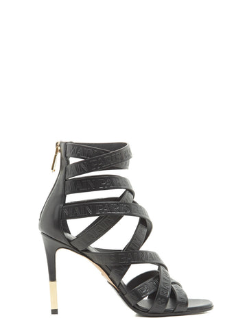 Balmain Strappy Ankle Tie Sandals