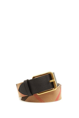 Burberry House Check Leather Belt
