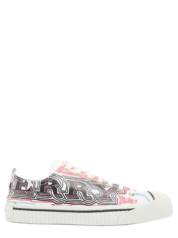 Burberry Printed Toe Cap Sneakers