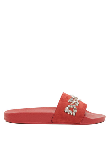 Dsquared2 Embellished Logo Slides
