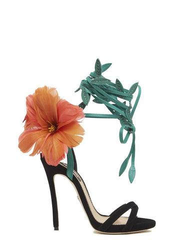 Dsquared2 Feather Embellished Ankle Strap Sandals