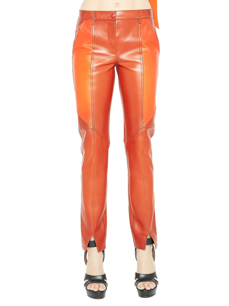 GIVENCHY LEATHER SLIM FIT TROUSERS