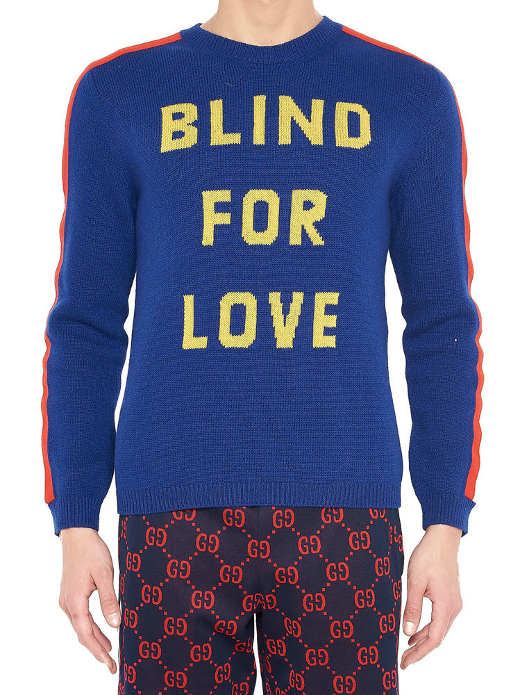 0b80afc2225b Gucci Blind For Love Knit Sweater – Cettire