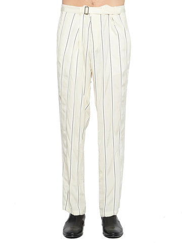 Haider Ackermann Belted Stripe Pants