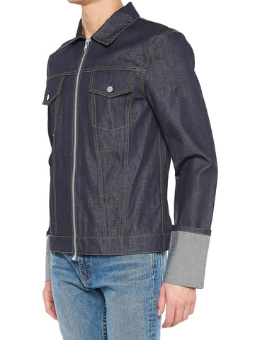 Helmut Lang Contrasted Top Stitch Jacket
