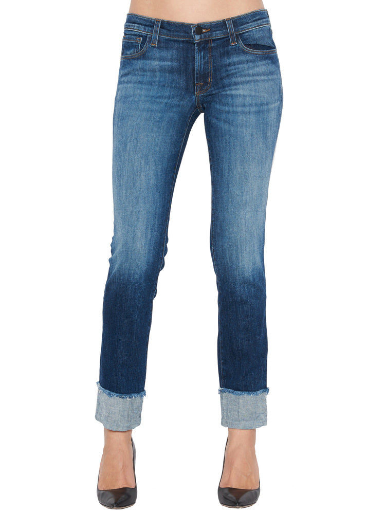 J BRAND HIPSTER CROPPED JEANS