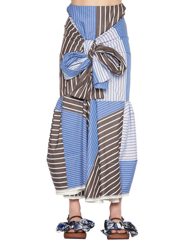 Marni Stripe Patchwork Tie Skirt