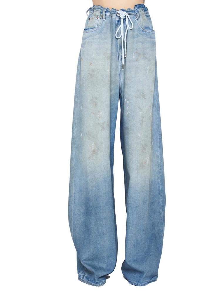 MM6 MAISON MARGIELA DENIM PALAZZO TROUSERS