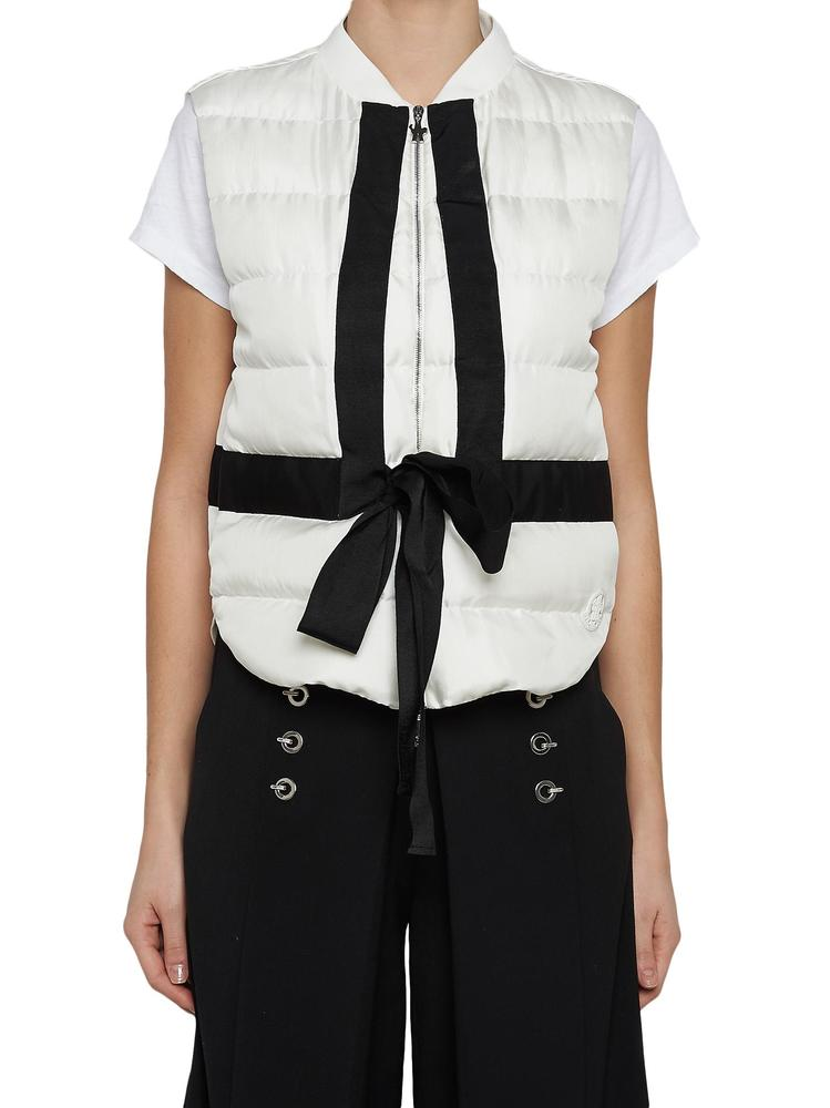 MONCLER GAMME ROUGE PADDED TIE GILET