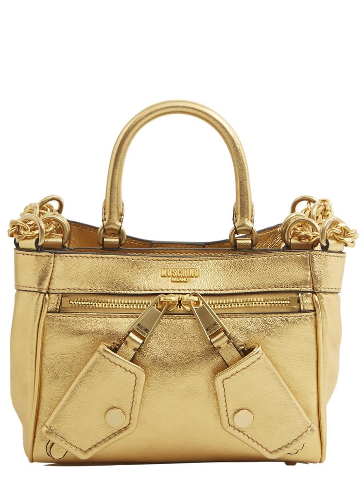 MOSCHINO FRONT POCKET MINI TOTE BAG