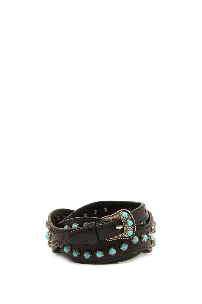 PRADA CABOCHON STUDDED LEATHER BELT