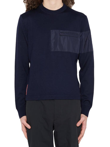 Prada Contrast Panel Knit Sweater