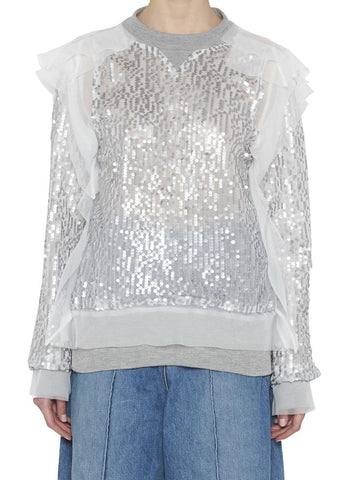 Sacai Embellished Sequin Sweater