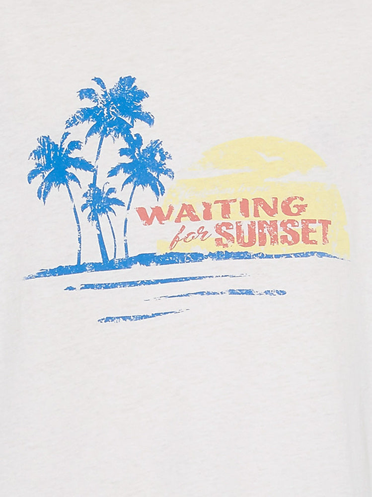SAINT LAURENT WAITING FOR SUNSET PRINTED T