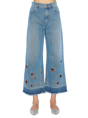 Vivetta Embroidered Wide Leg Jeans