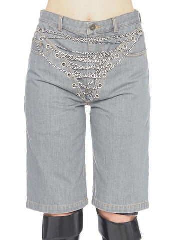 Y / Project Chain Embellished Shorts