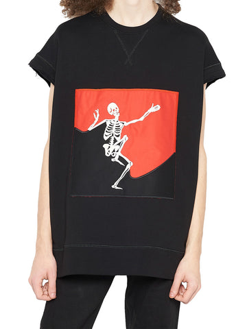 Alexander McQueen Dancing Skull Short Sleeved Sweater