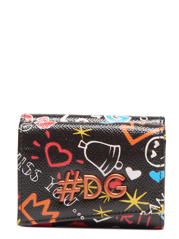 DOLCE & GABBANA LOVE CLUB PRINTED WALLET