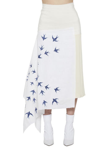 JW Anderson Asymmetrical Embroidered Skirt