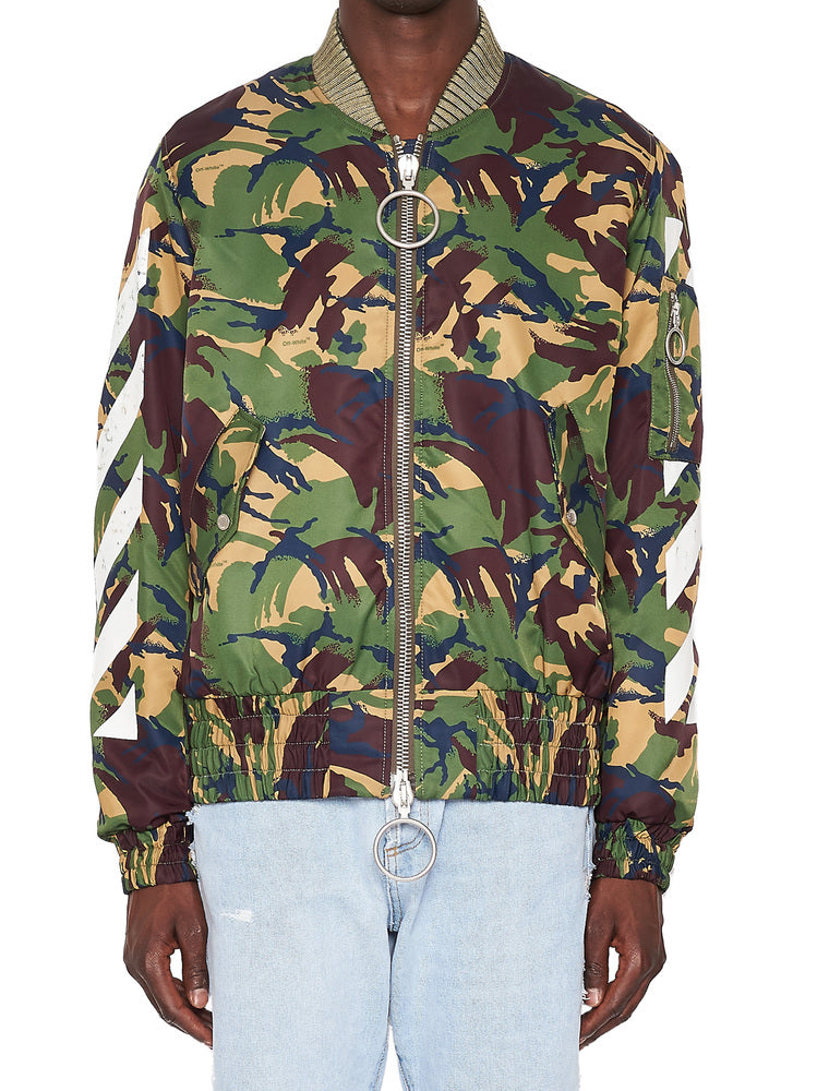 3c4999bf4a752 Off-White Diagonal Camouflage Bomber Jacket – Cettire