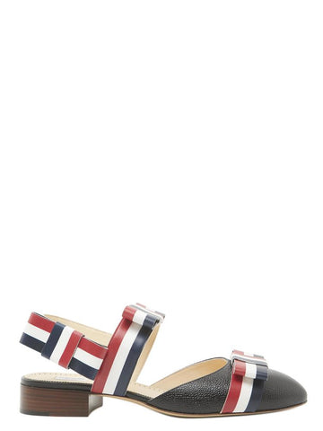 Thom Browne Striped Sling Back Pointed Shoes