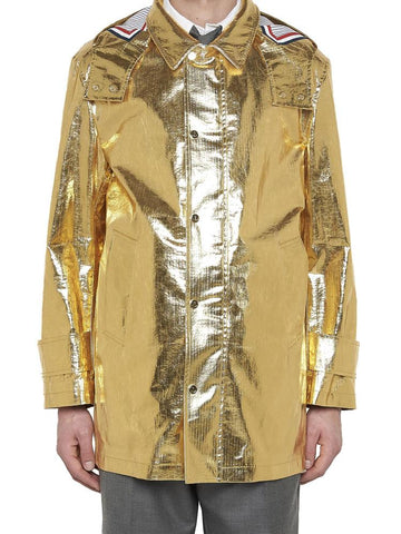 Thom Browne Metallic Hooded Coat