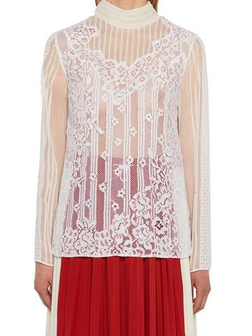 Valentino Lace Long Sleeved Blouse